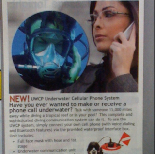 Have You Ever Wanted to Make a Phone Call Under Water